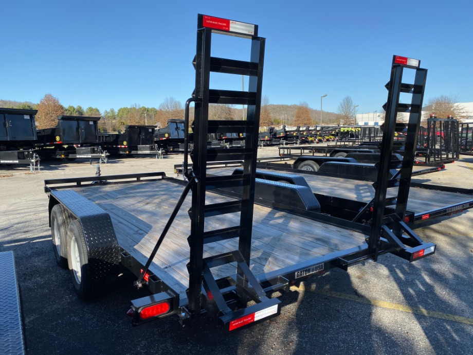 Car Hauler 16ft With Stand Up Ramps By Gator Best Car Hauler Trailer